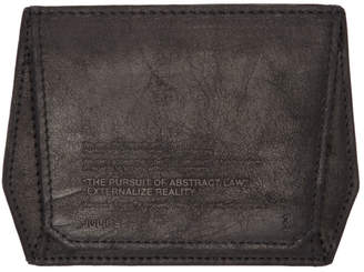 Julius Black Lambskin Card Holder