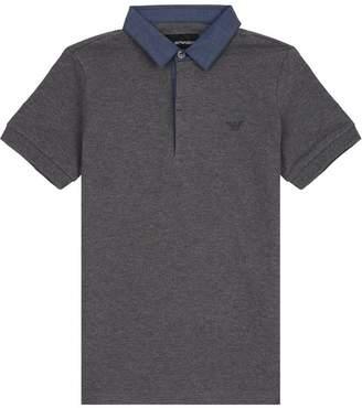Giorgio Armani Woven Collar Polo Shirt