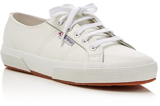 Superga Classic Leather Lace Up Sneakers $99 thestylecure.com