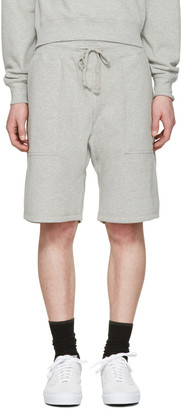 Noah NYC Grey Solid Lounge Shorts $100 thestylecure.com