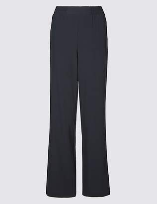 Marks and Spencer Elastic Waist Wide Leg Trousers
