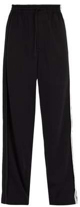 Y-3 Y 3 Wide Leg Cotton Blend Track Pants - Mens - Black