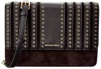 Michael Kors Brooklyn Grommet Large Leather Crossbody Bag - Black - 32F6ABHC3S-001
