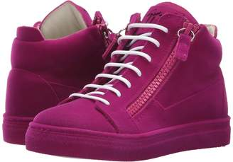 Giuseppe Zanotti Kids Flock Sneaker Girls Shoes