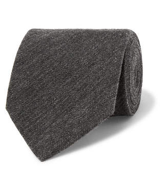 Dunhill Herringbone Cashmere And Mulberry Silk-Blend Tie