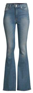 Hudson High Rise Flared Stretch Jeans