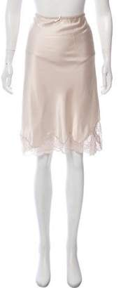 Oscar de la Renta Lace Slip Skirt