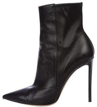 Gianvito Rossi Leather Pointed-Toe Ankle Boots