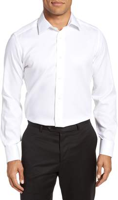 David Donahue Trim Fit Twill French Cuff Tuxedo Shirt