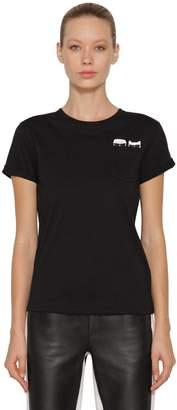 Karl Lagerfeld Paris Ikonik & Choupette Cotton T-Shirt