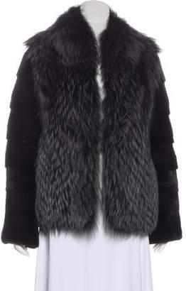 1ffdde097d82 Yves Salomon Fox and Mink Fur Jacket