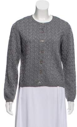 Oscar de la Renta Oscar by Wool Blend Knitted Cardigan