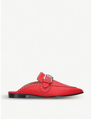 Givenchy Elegant studded leather backless loafers