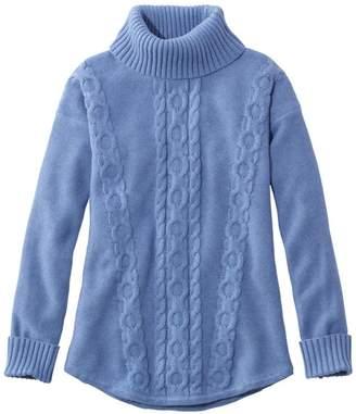 L.L. Bean L.L.Bean Women's Double LA Mixed-Cable Sweater, Turtleneck