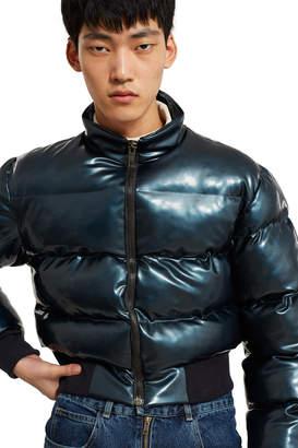 Arthur Avellano Chlorinated Latex Cropped Puffer Jacket