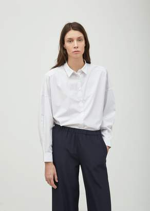 Aspesi Oversized Microstripe Shirt White/Blue/Black Stripe