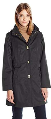 Jones New York Women's Pick Stitch A-Line Turn Key Transitional Coat $75.71 thestylecure.com