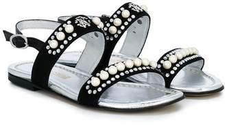 Roberto Cavalli Junior studded open-toe sandals