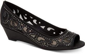 Charter Club Cassiaa Peep-Toe Wedge Pumps, Created for Macy's Women's Shoes