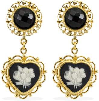 Vintouch Italy - Bouquet Cameo Earrings