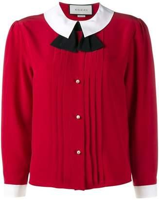 Gucci peter pan collar blouse