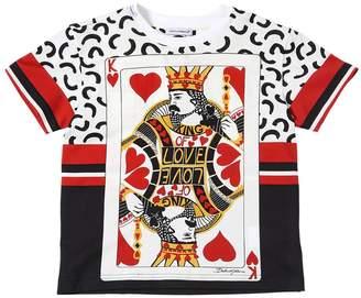 Dolce & Gabbana King Of Hearts Cotton Jersey T-Shirt