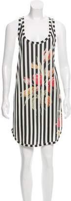 Dries Van Noten Striped Floral Print Dress