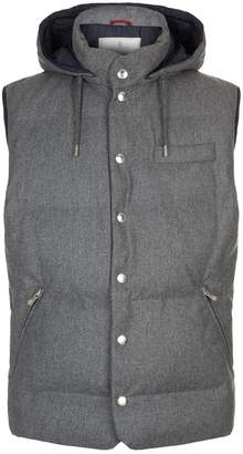 Brunello Cucinelli Weatherproof Padded Wool Gilet