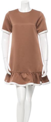 Marc JacobsMarc Jacobs Short Sleeve Ruffled Dress