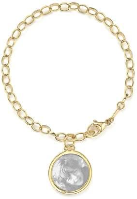 Monica Rich Kosann 18K Yellow Gold Oval Chain Hammered Charm Bracelet