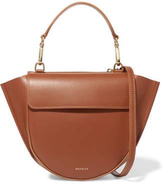 Hortensia Wandler Mini Leather Shoulder Bag - Tan