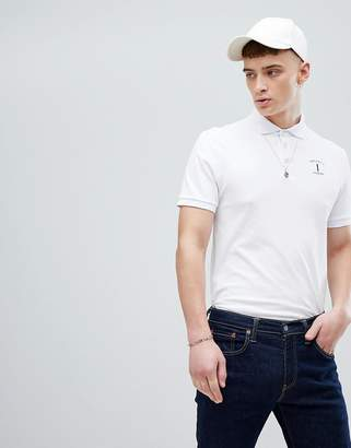Hackett Mr. Classic Logo Polo in White