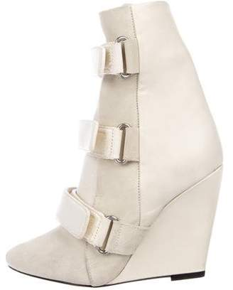 Isabel Marant Suede Wedge Ankle Boots