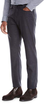 Ermenegildo Zegna Men's 5-Pocket Wool Flannel Pants