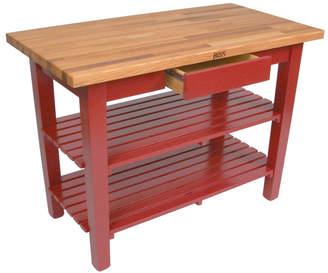 John Boos & Co. Black Oak Table With Shelves
