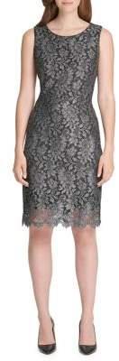 Tommy Hilfiger Metallic Floral Shift Dress