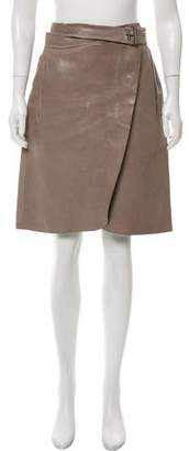 Reed Krakoff Leather Knee-Length Skirt