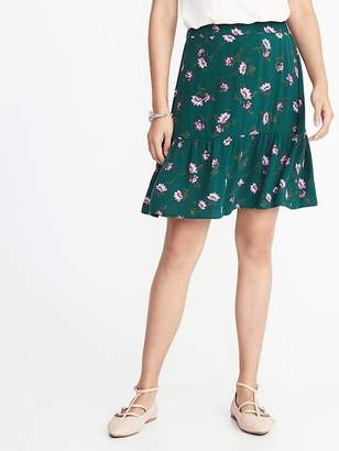 Old Navy Printed Ruffle-Tier Crepe Mini for Women