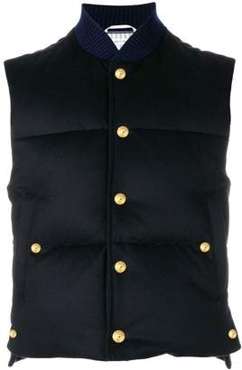 Thom Browne Tonal Grosgrain Down-Filled Cashmere Vest