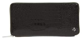 Rag & Bone Croc Embossed Zip Around Leather Wallet