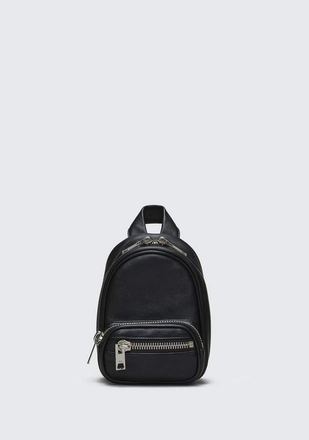 Alexander Wang ATTICA SOFT MINI BACKPACK IN BLACK WITH RHODIUM Shoulder Bag