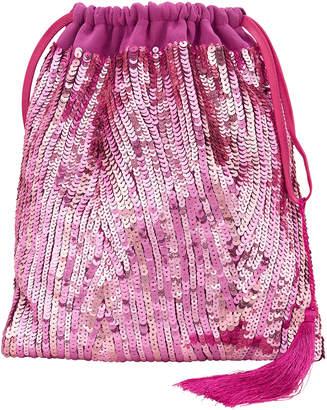 ATTICO Pink Sequin Pouch Clutch