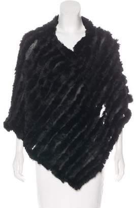 Fur Knit Poncho