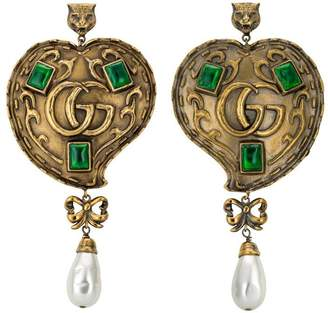 Gucci Heart earrings with pearls