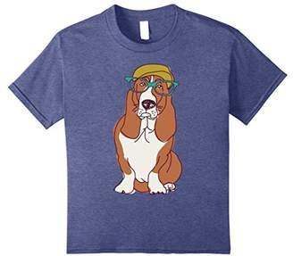 Cute Hipster Basset Hound | Dog & Puppy Lover T-Shirt & Gift
