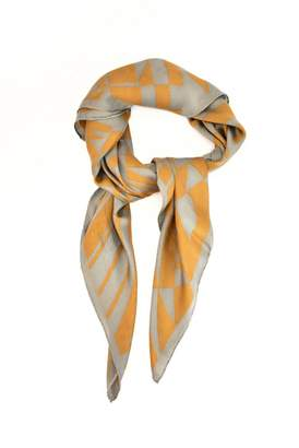 Fendi Yellow Silk Scarves