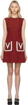 Valentino Red Double Pocket A-Line Dress
