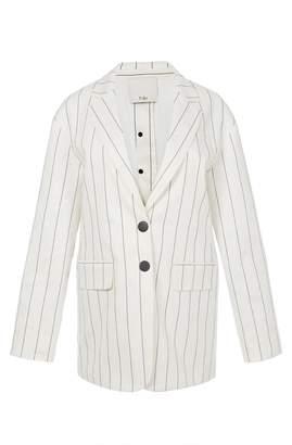 Tibi Viscose Stripe Oversized Blazer