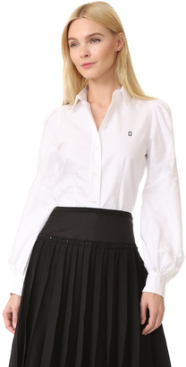 Marc Jacobs Bishop Sleeve Button Down $350 thestylecure.com