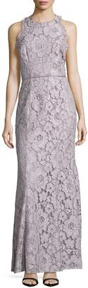 JS Collections Women's Lace Overlay Sleeveless Dress